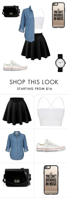 """Untitled #327"" by a-hidden-secret ❤ liked on Polyvore featuring Theory, Miss Selfridge, Converse and Casetify"