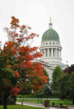 Maine State Capitol, Augusta ----10 minutes from the town that I live in