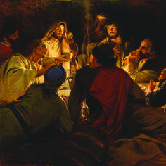 The last supper. Bible Pictures, Jesus Pictures, Jesus Christ Painting, Religious Paintings, Biblical Art, Church History, Jesus Lives, Last Supper, Holy Week