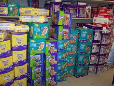 Pass the cloth please???   This is what 6,000 unused disposable diapers would like.   Can you imagine the waste after being used????