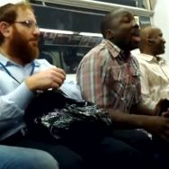 Man 'Sings' along with 'Thriller' on New York train