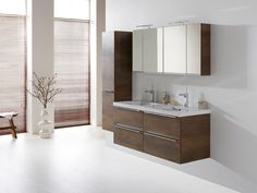 The Exclusive XL is for those who are looking for a contemporary bathroom cabinet and wish to give their bathroom an individual style. Bathroom Furniture, Wooden Bathroom, Kitchen Styling, Home Organization, Contemporary, Cabinet, Mirror, Home Decor, Style