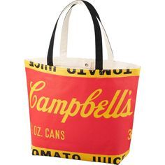 Andy Warhol Campbell's Soup Shopping Tote Uniqlo Silkscreened Canvas Pop Art Bag #Uniqlo #TotesShoppers