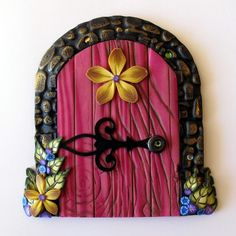 fairy door....claybykim.... I'd like to try this for a Halloween door.  Maybe in a shadow box?