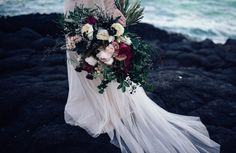 moody rose bouquet