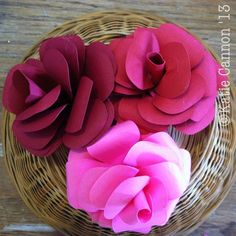 Paper Flowers with tutorial on how to convert a paper pattern to a cut file.
