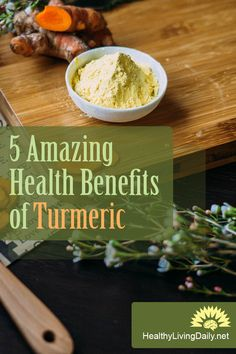 Read this article to find out about the 5 amazing health benefits of turmeric. Healthy Tips, Healthy Recipes, Happy Healthy, Health And Fitness Tips, Health And Wellness, Turmeric Health Benefits, Create A Recipe, Natural Health Tips, Health Facts