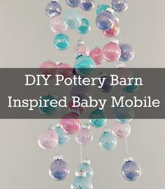DIY Baby Mobile from blog.babyli.st. Yes, it's a baby mobile and I don't have any babies who need it, but it could easily be a beautiful, whimsical touch to a little girl's room.
