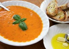 Roasted cherry tomato and basil soup recipe | Soups