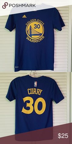 STEPH CURRY Golden State size 10/12 M This is an Adidas Goldan State climalite shirt. It was worn one time to a theme dance. adidas Shirts & Tops Tees - Short Sleeve