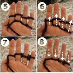 How to Finger Knit: Part 2 (got from Google Images)