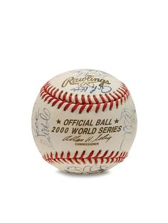 2000 New York Yankees Team Signed Baseball by Brigandi Coins and Collectibles at Gilt