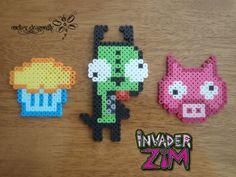 Gir Invader Zim perler beads by RockerDragonfly on deviantart