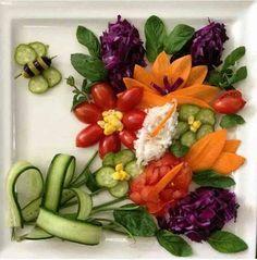 Flower bouquet of veggies.