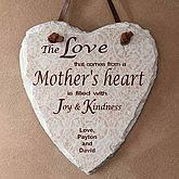 http://what-day-is-mothers-day.com/    Personalized Slate Wall Plaque - A Mother's Heart Design -  A Mother's Heart© Personalized Slate Plaque