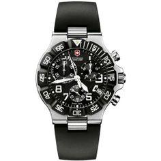 cool Swiss Army Men's Summit XLT Chrono Black Dial Watch – 241336  –