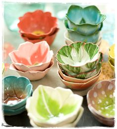 I don't know what I'll do with 20 tiny bowls shaped like flowers but I want them.  ink & peat : ink & peat