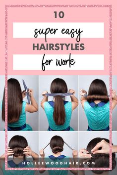 Want to impress your boss and coworkers? These super easy, yet professional hairstyles at work will make you feel a cut above the rest! Whether you want a quick, pulled-back updo or an easy, braided look, this list has some simple, fun ways to do your hair! #hairstyles #hairstylesforwork #hairinspo Easy Professional Hairstyles, Easy Hairstyles For Long Hair, Diy Hairstyles, Haircuts, Healthy Hair Tips, Natural Haircare, Hair Care Tips, Beauty Tips, Beauty Hacks
