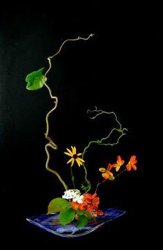 L'art floral japonais Ikebana, Thai Mai Van Arrangements Ikebana, Ikebana Flower Arrangement, Floral Arrangements, Deco Floral, Arte Floral, Japanese Flowers, Japanese Art, Flower Show, Flower Art
