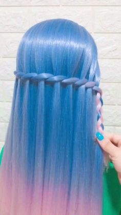 Down Hairstyles For Long Hair, Cute Simple Hairstyles, Braids For Long Hair, Pretty Hairstyles, Braided Hairstyles, Hidden Hair Color, Bridal Hair Buns, Front Hair Styles, Hair Videos