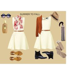 """""""SUMMER TO FALL - white dress"""" by looksmart-info on Polyvore"""