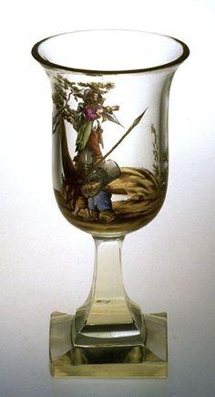 Wine glass, mid-19th cent. Austria