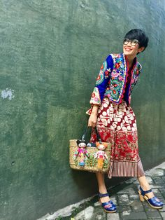 I Got the Friday's vibe with Batik Amarillis Traveller jacket in hand drawn batik Banyumas which is the pattern is reproduced from very old , classy and classic pattern also Batik Amarillis's Arcana jacket in Hungarian's Matyo inspired Embroidery Estilo Fashion, Boho Fashion, Autumn Fashion, Fashion Outfits, Womens Fashion, Fashion Design, Fashion Trends, Looks Style, Style Me