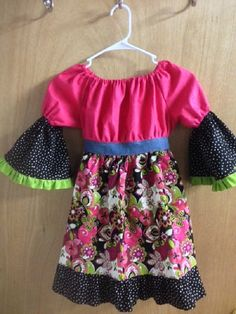 Peasant Dress girls size 7 by SewMeems on Etsy