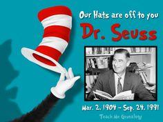 Dr. Seuss - 10 Fun Facts (Theodor Suess Geisel, Writer, Cartoonist, Animator, Artist) ~ Teach Me Genealogy