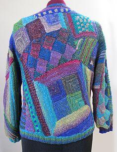 Ravelry: myrawood's Crazy Quilt Knitting/ patchwork Cardigan