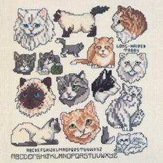 Cats Galore Free Cross Stitch Pattern