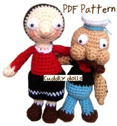 Amigurumi Crochet Dolls PDF Pattern  Popeyes & by cuddlydolls, $9.00