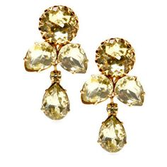 1950s Citrine Drop Earrings