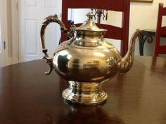Tea Pot Silver over Copper Vintage Beautiful by FELVERSFEVER, $12.75