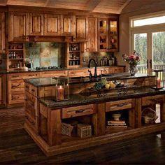 Rustic Kitchen Design Ideas | Pinterest | Western kitchen, Westerns ...