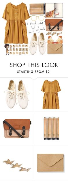 """""""Pencil Shavings On My Skirt"""" by alwaysallyson ❤ liked on Polyvore featuring Hasbro, Steven Alan, Behance, 1&20 Blackbirds, Muji, American Apparel, Tan, paper, davidtennant and pencil"""