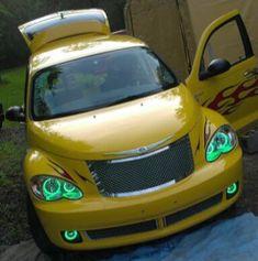 Mike Herron's 2006 PT Cruiser Route 66 Edition, Custom HALO Creations headlight and fog light set installation Pt Cruiser Accessories, Chrysler Pt Cruiser, Route 66, Halo, Vehicles, Cars, Car, Corona, Alone