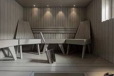 Modern Saunas, Sauna Design, Finnish Sauna, Spa Rooms, Modern Bathroom Decor, Luxury Spa, Amazing Bathrooms, Dining Bench, Relax
