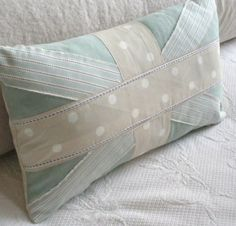 shabby chic union jack pillow in beautiful colors. by carol