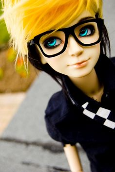 BJD doll eyes and glasses