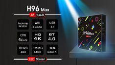 The developers of the line is at it again this is the upgraded ROM model the Max TV box. What has changed from the model! Smart Tv, Quad, Multimedia, Wifi, Android Camera, Audio, 4gb Ram, 4k Hd, Display Screen