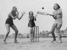 Well, Playing with a real ball. Look at the footwear, single pads on batter and wicket keeper and the expressions. Beauty!