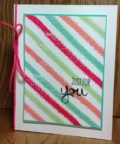 """Stampin' Up! Work of Art... make your own """"DSP"""" with the strips (for stamp a stack?!)"""