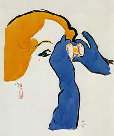 René Gruau. this reminds me of the character of Undine in The Custom of the Country by Edith Wharton.