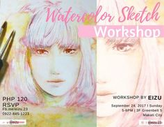 Hello there!  I'm going to teach watercolor sketching today Sep 24 2017!  This is for all ages. Have a great bonding time with your little ones or with friends who want to learn!  Join us and learn sketching doesn't have to be perfect just fun #thecraftcentralbday @thecraftcentral  Also I'm selling art prints and original paintings here too. Visit us at 3F Greenbelt 5 Makati City. My works will be on display until Monday. And the workshop is just for today Sunday 5-6 pm Learn Sketching, Learn To Sketch, Makati City, Workshop, Just For Today, Watercolor Sketch, Selling Art, My Works, Bond