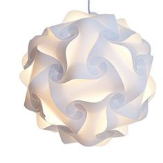 Zulux Puzzle Lamp Shade / Jigsaw IQ Light Plafonnier ombre Shade moderne Pendentif šŠclairage DšŠcoration Salon Chambre Hall etc (Blanc)