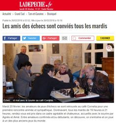 À #Bruniquel, les amoureux des #échecs sont conviés tous les mardis au café Cornelia