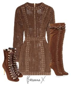 """Untitled #3232"" by breannamules ❤ liked on Polyvore featuring Balmain and Emilio Pucci"