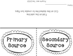 Worksheets Primary And Secondary Sources Puzzle sheilas foldable for primary and secondary resources red is a source freebies