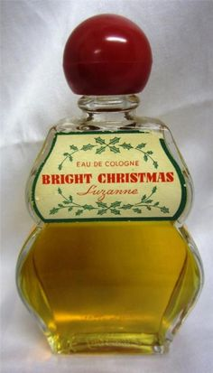 VINTAGE 'BRIGHT CHRISTMAS' EAU de COLOGNE by SUZANNE - BOTTLE SZ 3.4 oz? | eBay